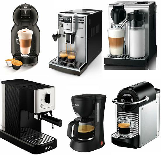 tipos de maquinas de cafe